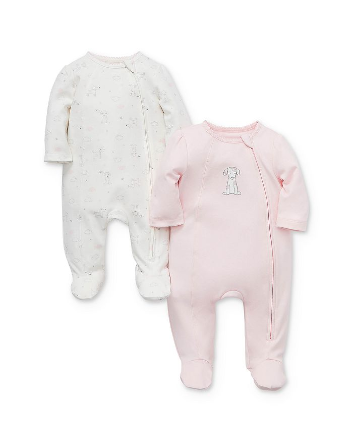 Little Me - Girls' Puppy Footies, 2 Pack - Baby