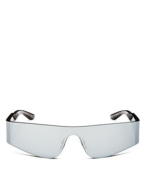 Balenciaga Men's Shield Sunglasses, 150Mm In Silver/Mirror