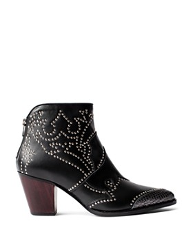 Zadig & Voltaire - Women's Cara Studded Ankle Booties