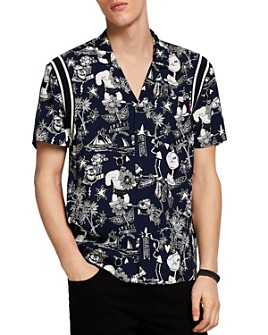 Scotch & Soda - Brutus Short-Sleeve Printed Slim Fit Shirt