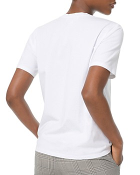MICHAEL Michael Kors - Studded Logo Cotton T-Shirt