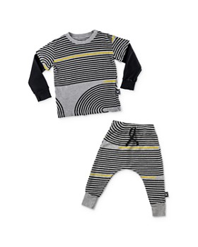 NUNUNU - Boys' Spiral-Striped Tee & Jogger Pants - Little Kid