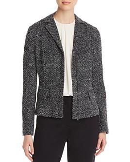 St. John - Mélange Tweed Zip Jacket
