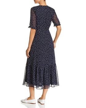 KARL LAGERFELD Paris - Polka Dot Ruffle-Trimmed Dress