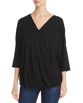 Status by Chenault - Faux-Wrap Blouson Top