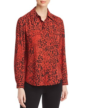Marled - Leopard Shirred Utility Top
