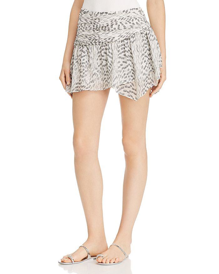 Ramy Brook - Renly Silk-Blend Tiered Mini Skirt