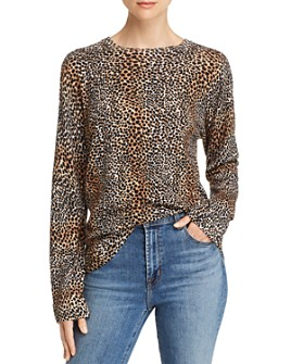 Equipment - Raydon Cheetah Print Wool Sweater