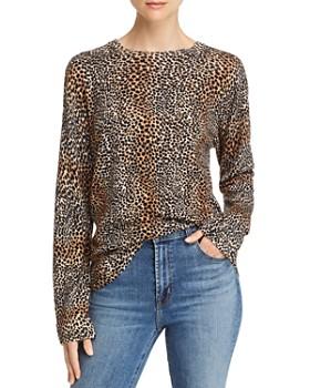 Equipment - Raydon Cheetah Print Wool Sweater