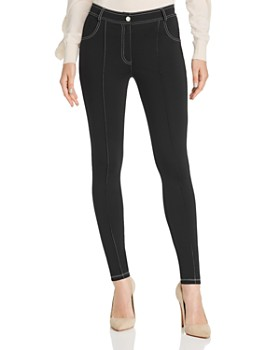 Sandro - Bely Contrast-Stitched Skinny Pants - 100% Exclusive