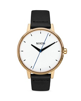 Nixon - The Kensington Black Leather Strap Watch, 37mm
