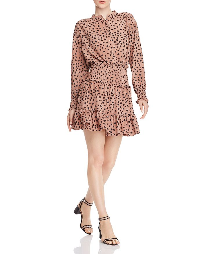 Rebecca Taylor - Le Faune Cheetah-Print Smocked Dress