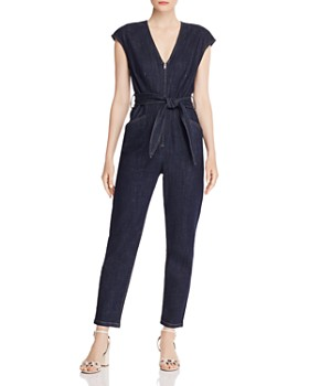 Rebecca Taylor - V-Neck Denim Jumpsuit