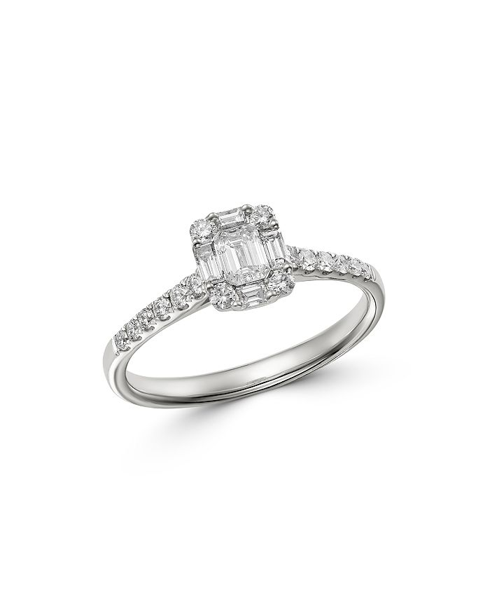 Bloomingdale's - Diamond Mosaic Ring in 18K White Gold, 0.65 ct. t.w. - 100% Exclusive