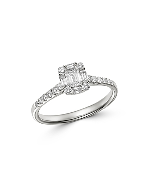Bloomingdale's Diamond Mosaic Ring in 18K White Gold, 0.65 ct. t.w. - 100% Exclusive
