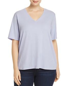 Eileen Fisher Plus - Organic Cotton V-Neck Tee