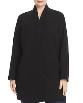 Eileen Fisher Plus - Textured Stand-Collar Jacket