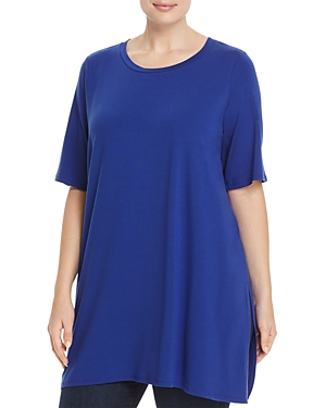 Eileen Fisher Plus Elbow-Sleeve Tunic Top