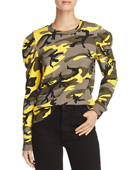 PAM & GELA - Puff-Sleeve Camo Sweatshirt