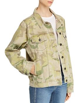 One Teaspoon - Bandits Camo & Leopard Print Denim Jacket