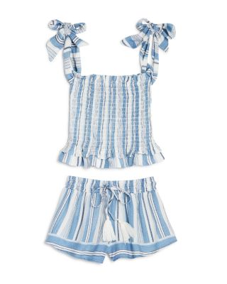 Girls' Striped Smocked Top - Big Kid