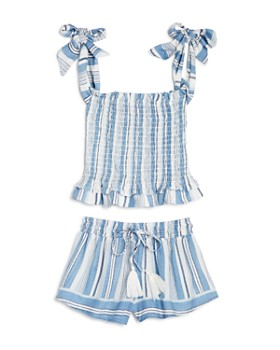 af22b98fb5 Vintage Havana - Girls' Striped Smocked Top & Shorts - Big Kid ...