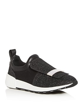 Sergio Rossi - Women's SR1 Knit Slip-On Sneakers