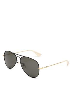 Gucci - Unisex Aviator Sunglasses, 60mm
