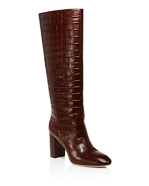Women's Goldy Croc-Embossed Tall Boots