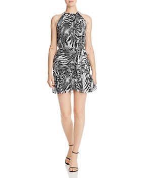 Ramy Brook - Mariana Zebra-Print Silk Mini Dress - 100% Exclusive