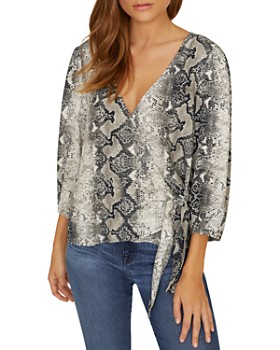 Sanctuary - All Wrapped Up Snakeskin Top