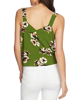 1.STATE - Tie-Front Floral-Print Blouse