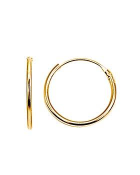 AQUA - Hoop Earrings in 18K Gold-Plated Sterling Silver or Sterling Silver - 100% Exclusive