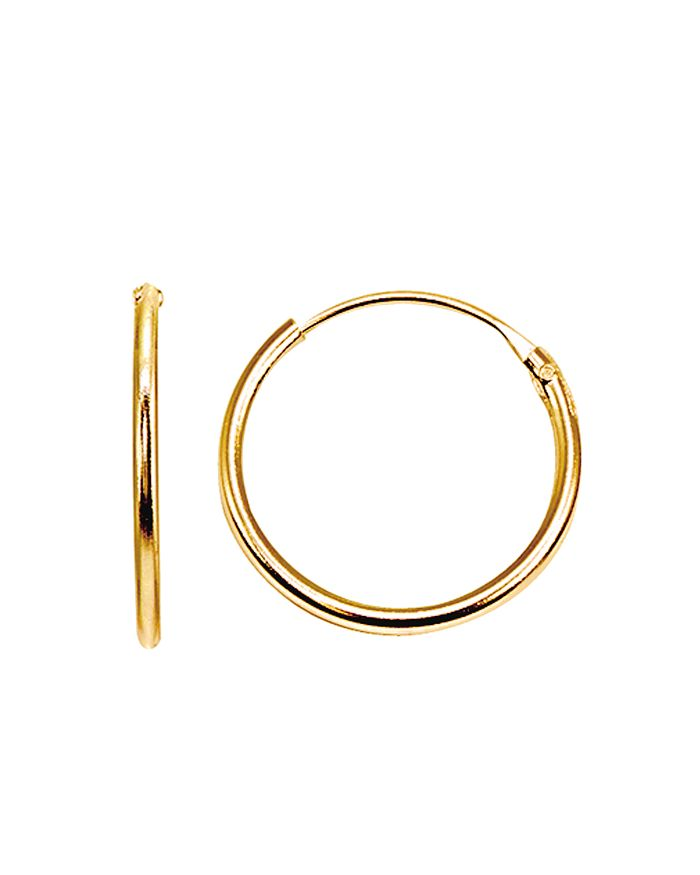 AQUA - Tiny Hoop Earrings in 18K Gold-Plated Sterling Silver or Sterling Silver - 100% Exclusive
