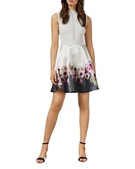 Ted Baker - Janyis Neopolitan-Print Skater Dress