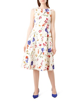 HOBBS LONDON - Cleo Floral Fit-and-Flare Dress