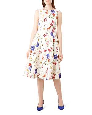 Hobbs London Cleo Floral Fit-and-Flare Dress