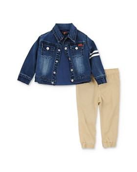 7 For All Mankind - Boys' Denim Jacket, Tee & Pants Set - Baby