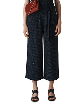 Whistles - Dotted Tie-Waist Crop Pants