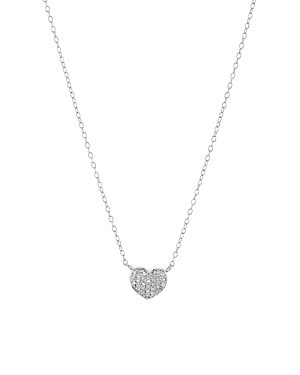 Bloomingdale's Marc & Marcella Diamond Heart Necklace in Sterling Silver, 15 - 100% Exclusive