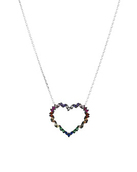 """AQUA - Heart Pendant Necklace in Gold-Plated Sterling Silver or Sterling Silver, 16"""" - 100% Exclusive"""