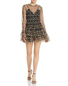 Alice McCall - Satellite of Love Embroidered Tulle Romper