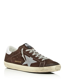 Golden Goose Deluxe Brand - Unisex Superstar Distressed Suede Low-Top Sneakers
