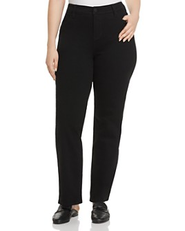 Liverpool Los Angeles Plus - Sadie Straight-Leg Jeans in Black Rinse