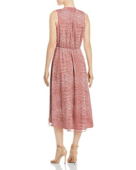 Joie - Hilarie Sleeveless Snakeskin-Print Dress