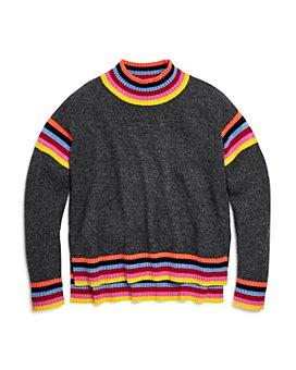 AQUA - Girls' Rainbow-Striped Cashmere Sweater, Big Kid - 100% Exclusive