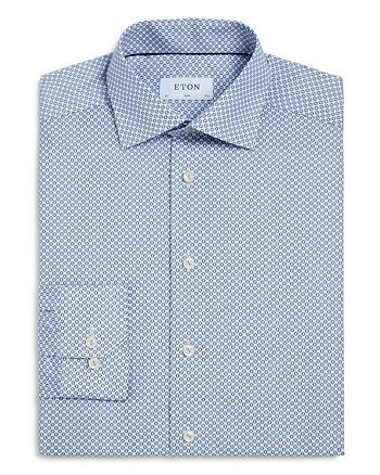 Eton - Micro Medallion Slim Fit Dress Shirt