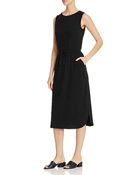 Eileen Fisher - Drawstring-Waist Midi Dress
