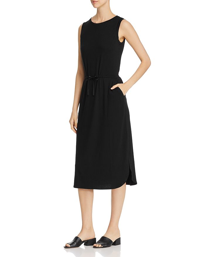 Eileen Fisher - Drawstring-Waist Midi Dress