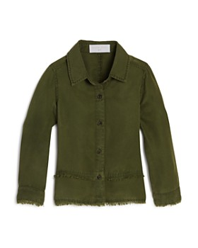 Bella Dahl - Girls' Frayed Button-Down Shirt - Little Kid, Big Kid